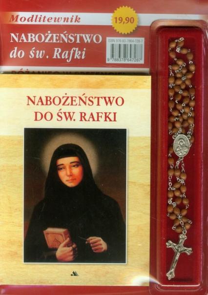 Nabożeństwo do św. Rafki Modlitewnik z różańcem -  | okładka