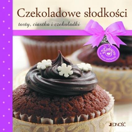 Czekoladowe słodkości torty, ciastka i czekoladki -  | okładka