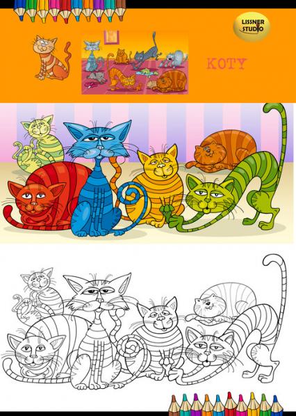 Kolorowanka Koty -  | okładka