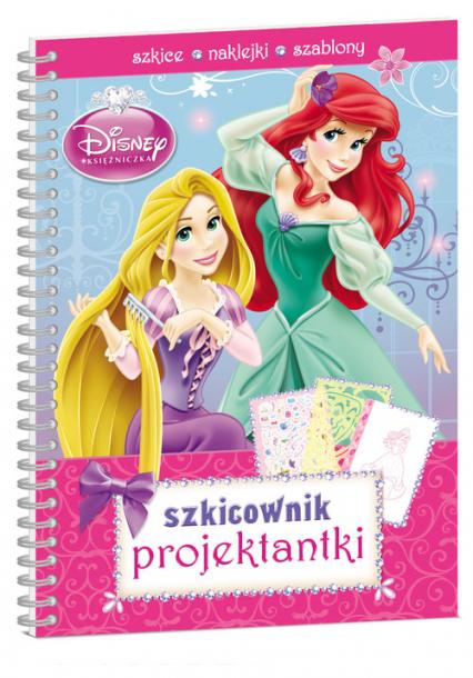 Disney Księżniczki Szkicownik projektantki -  | okładka