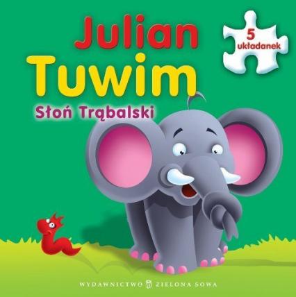 Słoń Trąbalski Książka z puzzlami - Julian Tuwim | okładka