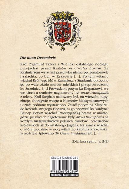 Diariusze sejmu koronacyjnego Zygmunta III Wazy 1587/1588 roku - Irena Kaniewska | okładka