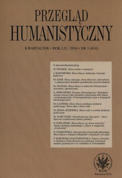 Przegląd Humanistyczny 3/2016 -  | okładka
