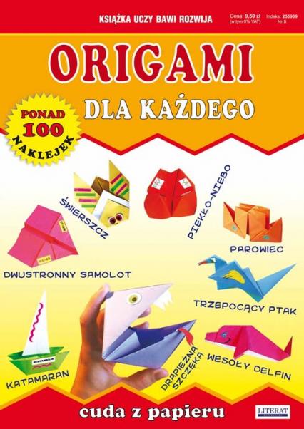 Origami dla każdego Cuda z papieru Ponad 100 naklejek - Beata Guzowska | okładka