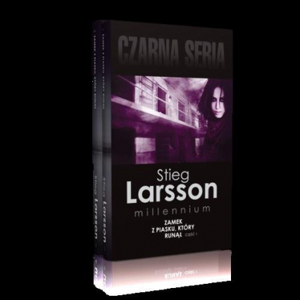 Zamek z piasku, który runął Część 1-2 Pakiet - Stieg Larsson | okładka