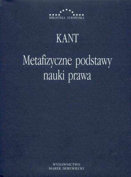 Metafizyczne podstawy nauki prawa - Immanuel Kant | okładka