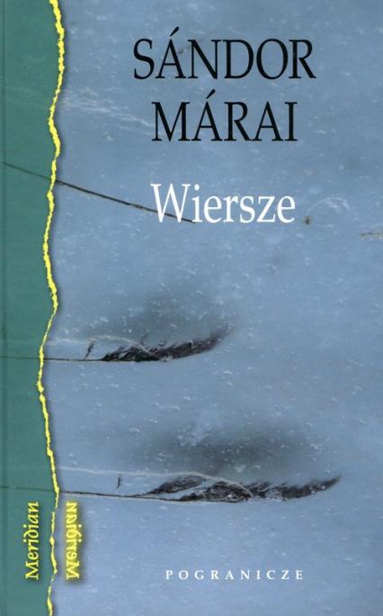 Wiersze - Sandor Marai | okładka