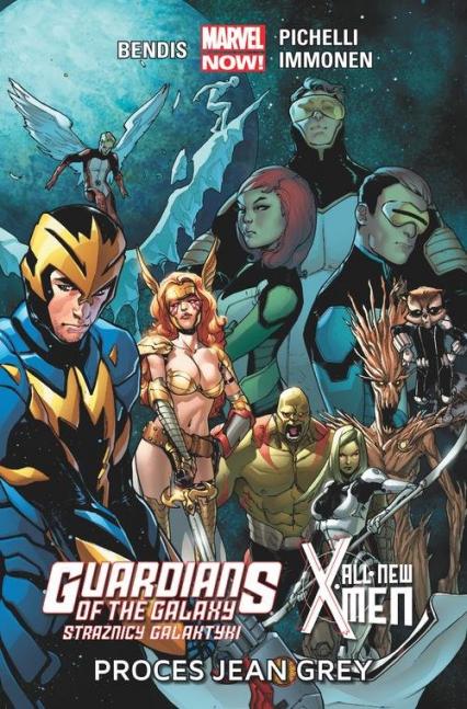 Guardians of the Galaxy Strażnicy Galaktyki / All-New X-Men: Proces Jean Grey - Bendis Brian Michael, Pichelli Sara, Immonen Stuart, Marquez David   okładka