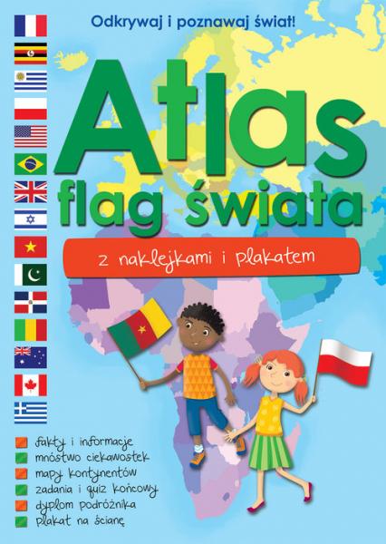 Atlas flag świata z naklejkami i plakatem -  | okładka