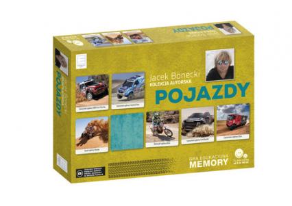 Gra edukacyjna memory - Pojazdy - Jacek Bonecki | okładka