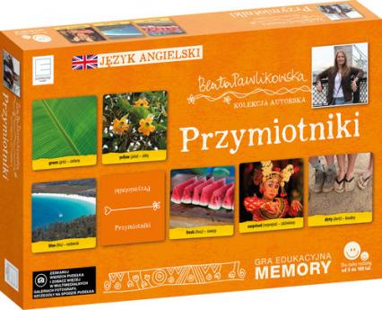Edukacyjne memory  językowe przymiotniki - Beata Pawlikowska | okładka