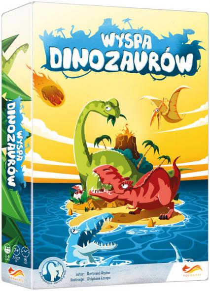 Wyspa dinozaurów Gra planszowa - Bertrand Arpino | okładka