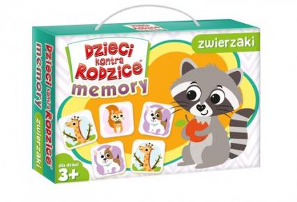 Dzieci kontra rodzice Memory zwierzaki - zbiorowa Praca   okładka