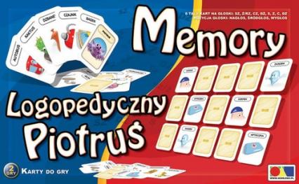 Logopedyczny Piotruś Zestaw 1 Memory 8 talii kart na głoski: SZ Ż CZ DŻ S Z C DZ -  | okładka