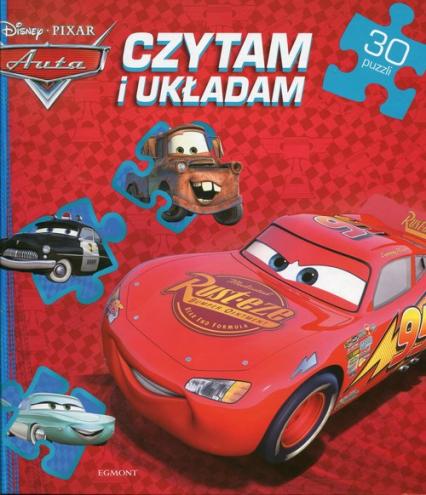 Auta Czytam i układam 30 puzzli -  | okładka