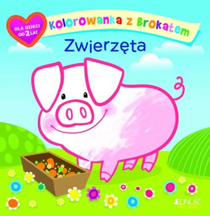Kolorowanka z brokatem Zwierzęta - Ola Makowska | okładka