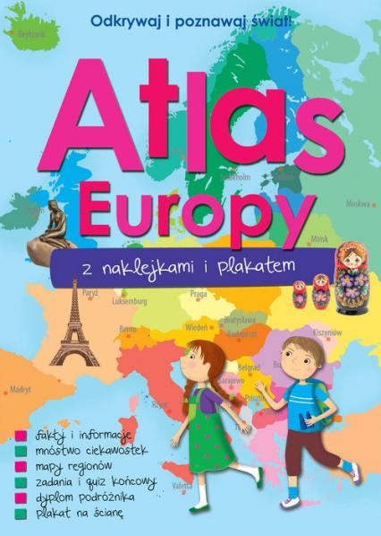 Atlas Europy z naklejkami i plakatem -  | okładka