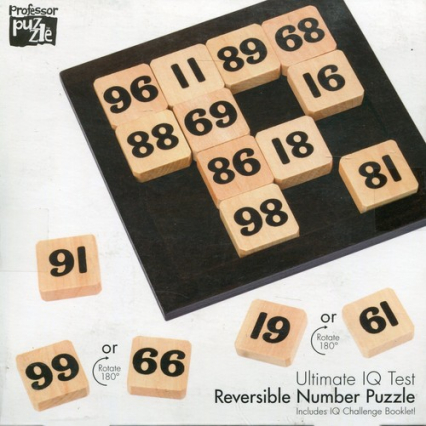 Łamigłówka drewniana IQ Reversible Number Puzzle -  | okładka