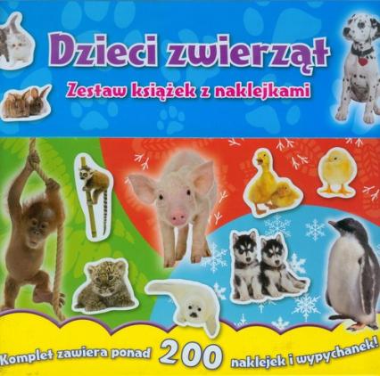 Dzieci zwierząt Zestaw książek z naklejkami - zbiorowa praca | okładka