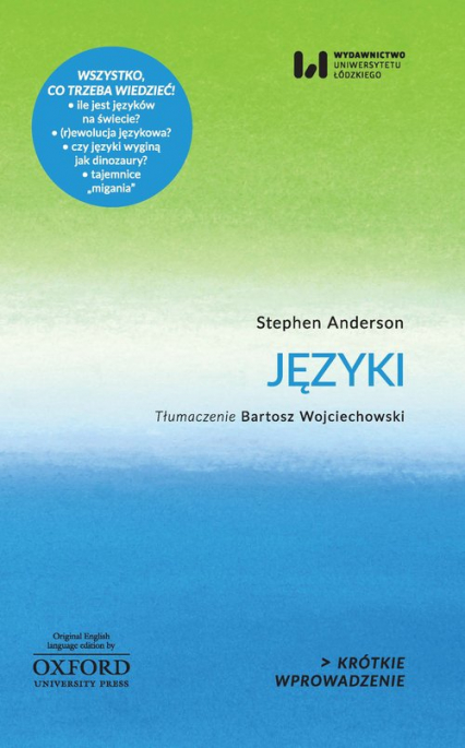 Języki - Stephen Anderson   okładka