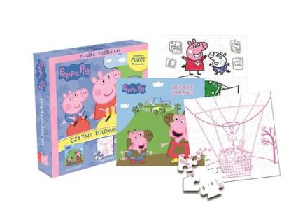 Peppa Pig Czytaj! Koloruj! Baw się! -  | okładka
