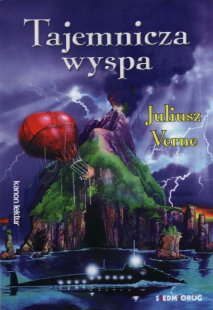Tajemnicza wyspa - Juliusz Verne | okładka