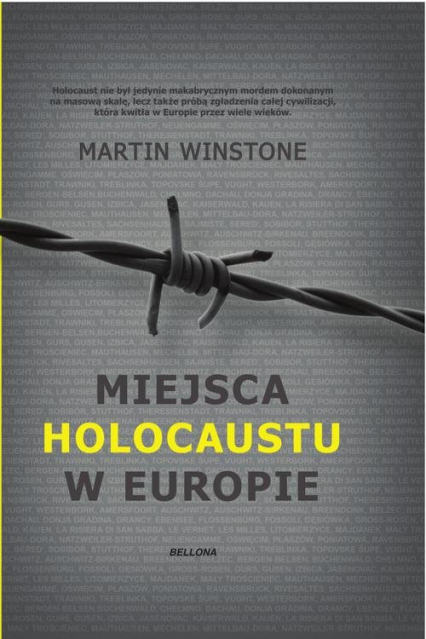 Miejsca Holokaustu w Europie - Martin Winstone | okładka