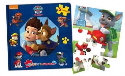Psi Patrol Książka z puzzlami -  | okładka
