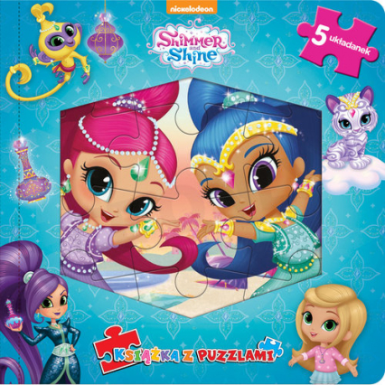 Shimmer & Shine Książka z puzzlami -  | okładka