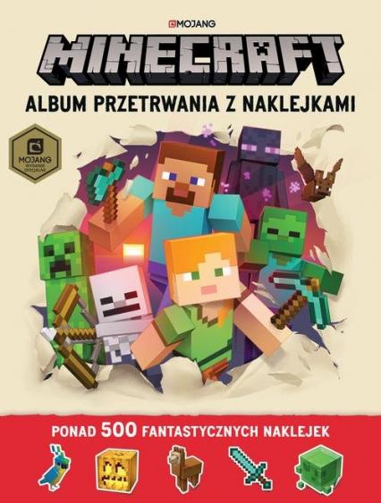 Minecraft Album przetrwania z naklejkami - Jelley Craig, Milton Stephanie   okładka