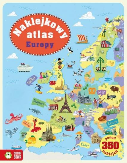 Naklejkowy atlas Europy - Jonathan Melmoth   okładka