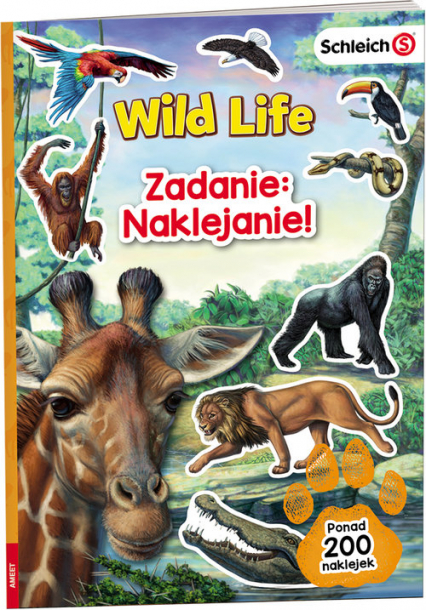 Schleich Wild Life Zadanie Naklejanie LASS-101 -  | okładka
