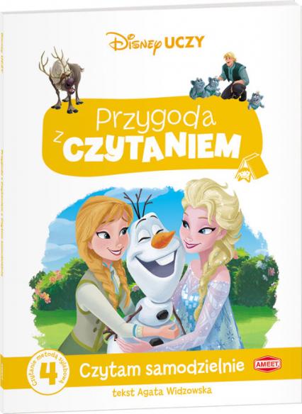 Disney Uczy Przygoda z czytaniem Kraina Lodu Czytam samodzielnie poziom 4 Czytanie metodą sylabową - Agata Widzowska | okładka