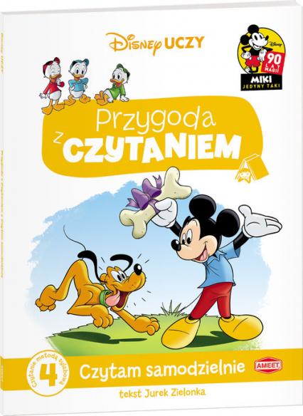 Disney Uczy Przygoda z czytaniem Mickey Mouse Czytam samodzielnie poziom 4 Czytanie metodą sylabową - Jurek Zielonka | okładka