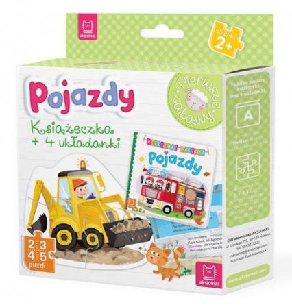 Pojazdy Książeczka i cztery układanki Puzzle dla malucha -  | okładka
