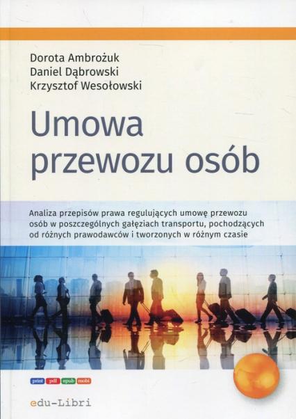 Umowa przewozu osób - Ambożuk Dorota, Dąbrowski Daniel, Wesołowski Krzysztof | okładka