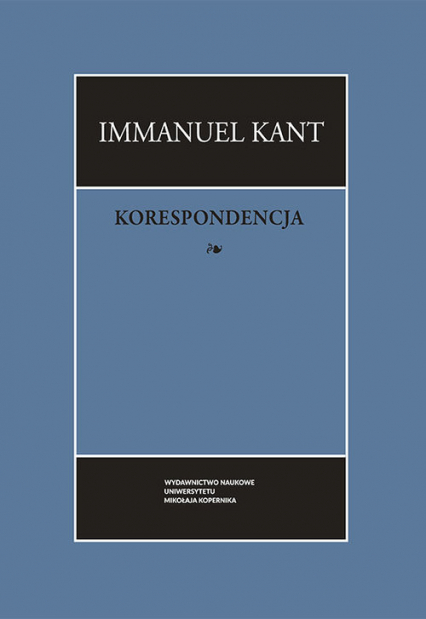 Korespondecja - Immanuel Kant | okładka