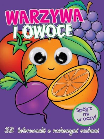 Kolorowanka z oczkami Warzywa i owoce -  | okładka