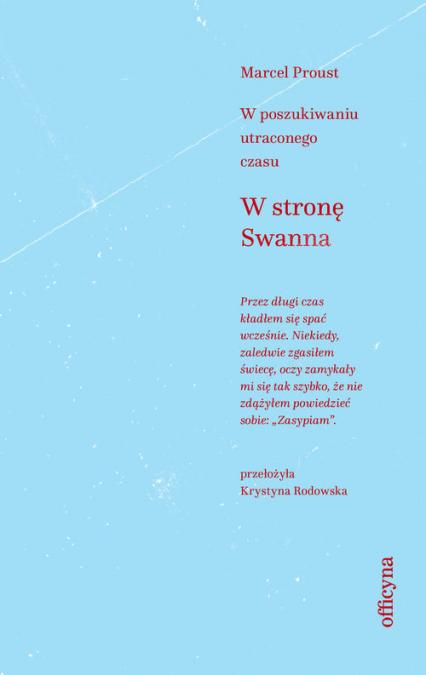 W stronę Swanna - Marcel Proust   okładka