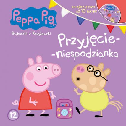 Świnka Peppa Bajeczki z książeczki. Nr 12 Przyjęcie-niespodzianka -  | okładka