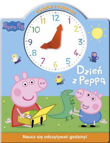 Świnka Peppa Książka z zegarem Dzień z Peppą -  | okładka