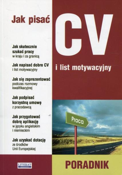 Jak pisać CV i list motywacyjny Poradnik -  | okładka
