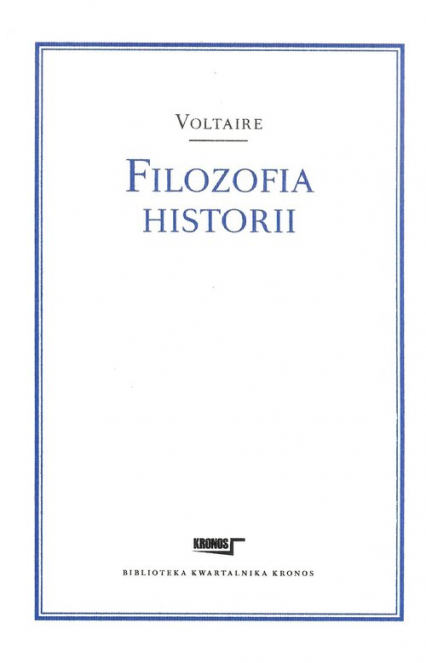 Filozofia historii - Voltaire | okładka