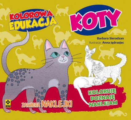 Kolorowa edukacja Koty - Barbara Sieradzan | okładka