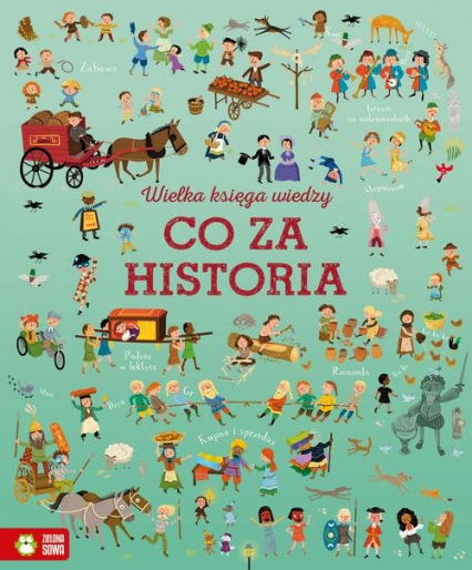 Wielka księga wiedzy Co za historia - Cowan Laura, Baer Sam | okładka