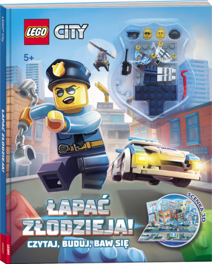 Lego City Łapać złodzieja! Czytaj, buduj, baw się LMB-1 -  | okładka