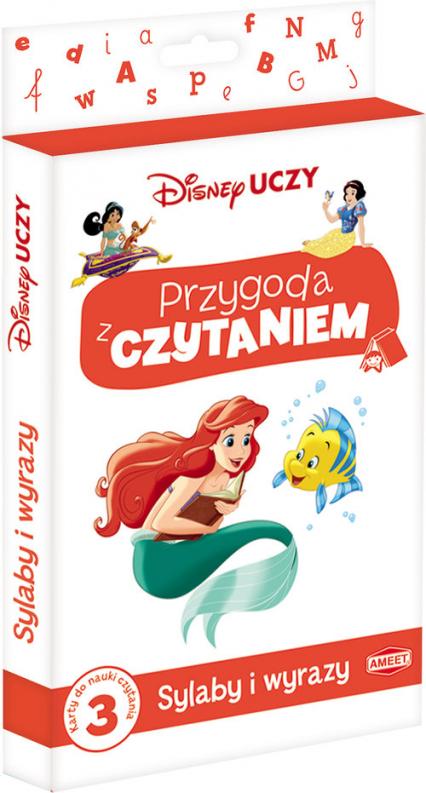 Disney Uczy Księżniczka Przygoda z czytaniem Sylaby i wyrazy PCK-3 -  | okładka