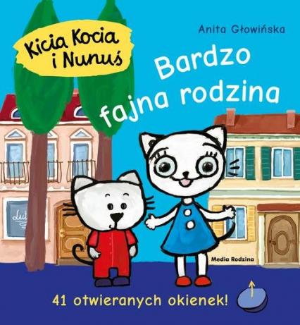 Kicia Kocia i Nunuś Bardzo fajna rodzina - Anita Głowińska | okładka