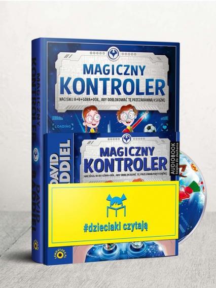 Dzieciaki Czytają: Magiczny Kontroler + CD Pakiet - David Baddiel | okładka