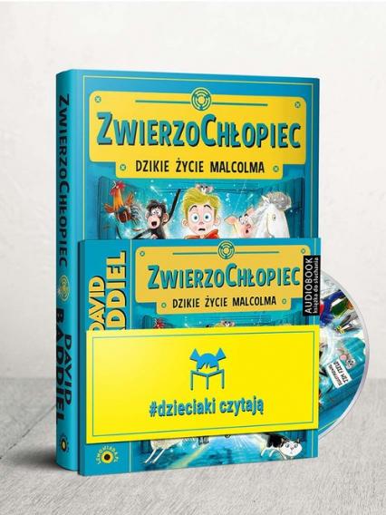 Dzieciaki Czytają: ZwierzoChłopiec + CD Pakiet - David Baddiel | okładka